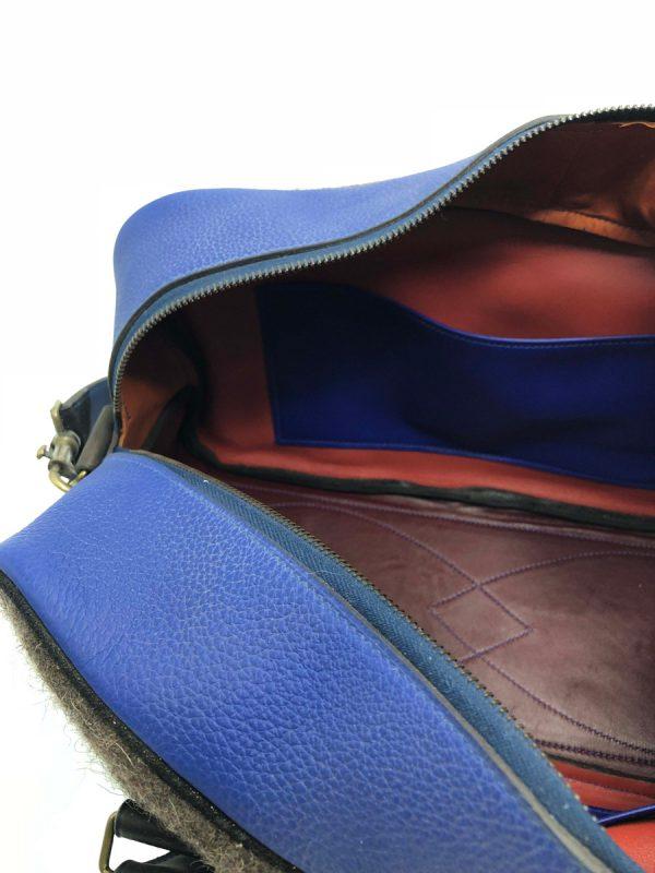 Sac Bacchus Bleu et Gris intérieur
