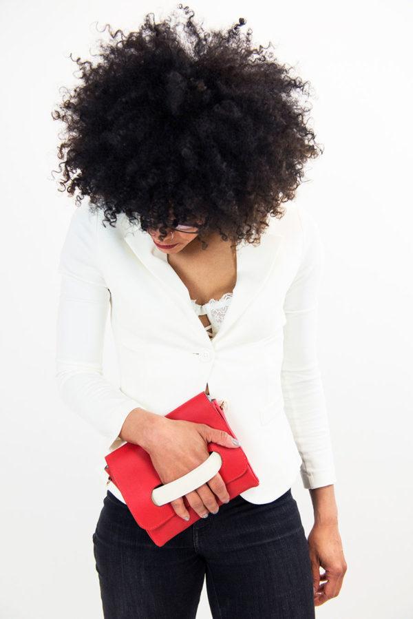 sac Ditta porté rouge