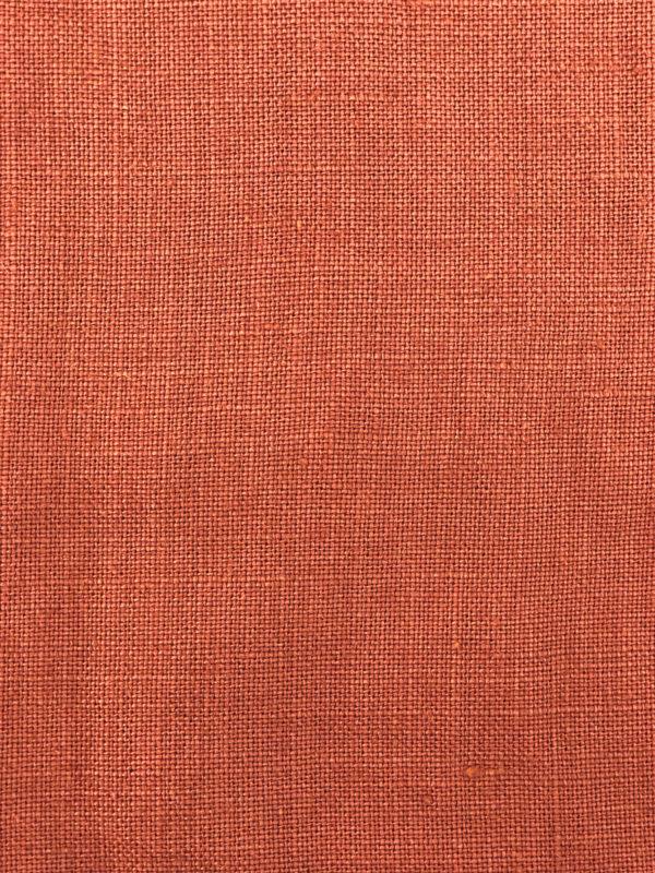Zoom lin français couleur rouille