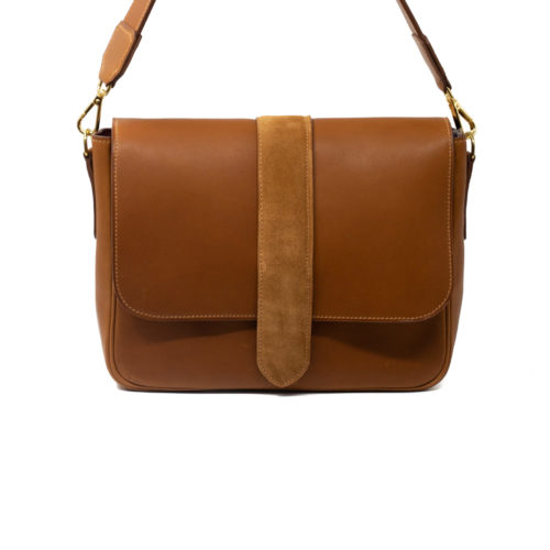 Sac Grand Paris cuir Cognac - avant