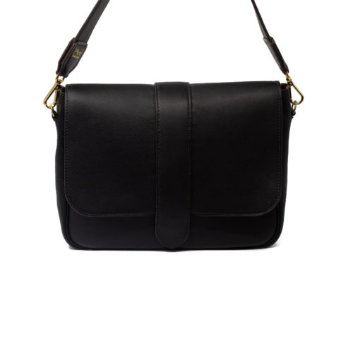 Sac Grand Paris cuir Noir - avant