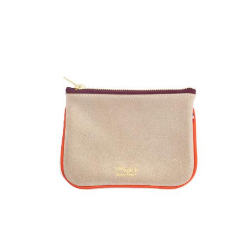 Billie - Petite pochette de sac - cuir tanné végétal Paillette